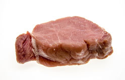 Raw pork chops. On white background Royalty Free Stock Image