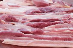 Raw pork for cooking in the market. Raw pork for cooking in the market Stock Images