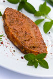 Raw Pork Cutlet with herbs Stock Images