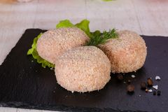 Raw pork cutlet. Minced meat Royalty Free Stock Image