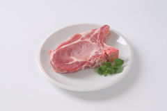 Raw pork cutlet Royalty Free Stock Photo