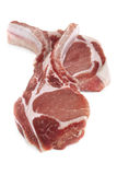 Raw Pork Cutlets Stock Photos