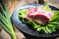 Raw pork Stock Images