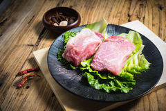 Raw pork Royalty Free Stock Photo