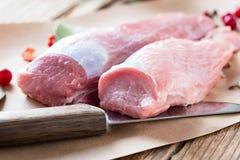 Raw pork fillet Stock Image