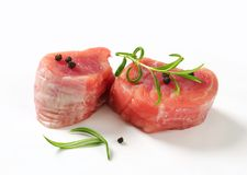 Raw Pork Fillet Medallions Royalty Free Stock Photography