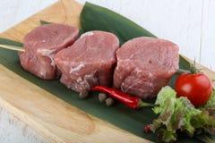 Raw pork fillet mignon. Ready for cooking stock photos