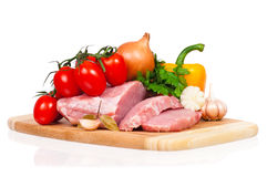 Meat and vegetables Royalty Free Stock Image