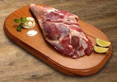 Raw pork ham, pork leg Stock Photo