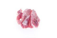 Raw pork isolated. On white background Royalty Free Stock Photo