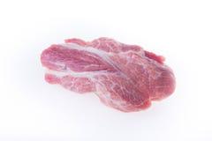 Raw pork isolated. On white background Stock Photos