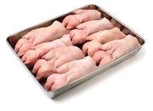 Raw pork leg. On the  white background Stock Photo