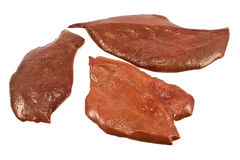 Raw pork liver Royalty Free Stock Photos