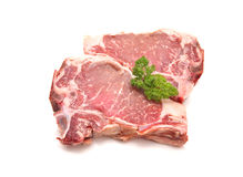 Raw pork loin chop Royalty Free Stock Images
