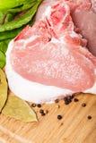 Raw pork loin Royalty Free Stock Photo