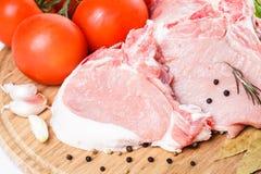 Raw pork loin Stock Photo