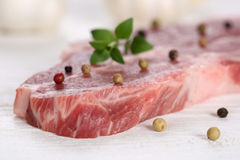 Raw pork meat cutlet Royalty Free Stock Image