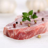 Raw pork meat cutlet steak Royalty Free Stock Photography