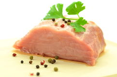 Raw pork meat on cutting board Royalty Free Stock Images