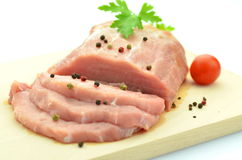 Raw pork meat on cutting board Stock Photography