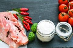 Raw pork meat royalty free stock image