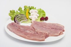 Raw pork meat isolated Stock Photography