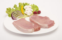 Raw pork meat isolated Royalty Free Stock Photography