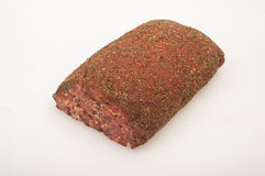 Raw pork Meat Loaf with spices Stock Image