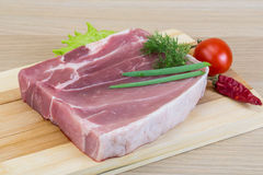 Raw pork meat Royalty Free Stock Photo