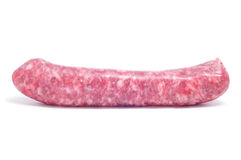 Raw pork meat sausage Royalty Free Stock Image