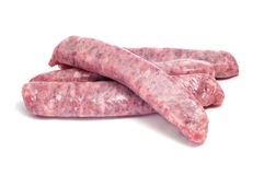 Raw pork meat sausages Stock Photo