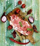 Raw Pork Neck Royalty Free Stock Images