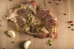 Raw pork neck Stock Photos