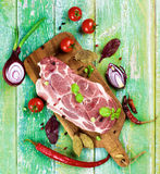 Raw Pork Neck Royalty Free Stock Image