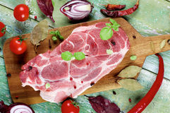 Raw Pork Neck Stock Images