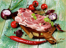 Raw Pork Neck Royalty Free Stock Photo