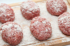 Raw pork patties Royalty Free Stock Photos