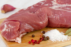 Raw pork with pepper Stock Image