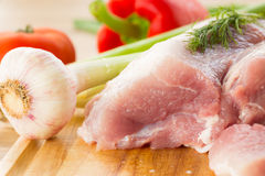 Raw pork Stock Photo