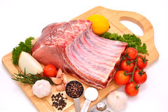 Raw pork Royalty Free Stock Photos