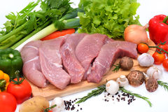 Raw pork Royalty Free Stock Images