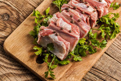 Raw pork ribs Stock Photos