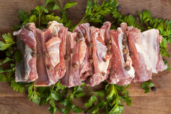 Raw pork ribs Royalty Free Stock Photos