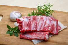 Raw pork ribs Royalty Free Stock Image