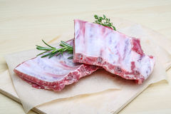 Raw pork ribs Stock Images