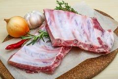 Raw pork ribs Royalty Free Stock Photography