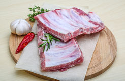 Raw pork ribs Stock Image