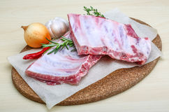 Raw pork ribs Stock Photo