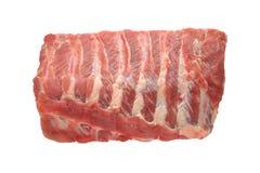Raw pork ribs. On white background royalty free stock photo