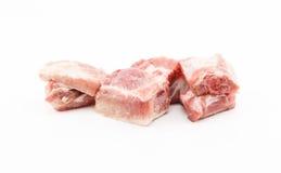 Raw pork ribs on white background. Raw pork short ribs on white background Stock Photos
